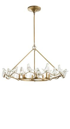 Chandeliers, 18 Art Glass Doves Chandelier, so elegant, one of over 3,000 limited production interior design inspirations inc, furniture, lighting, mirrors, tabletop accents and gift ideas to enjoy repin and share at InStyle Decor Beverly Hills Hollywood Luxury Home Decor enjoy & happy pinning