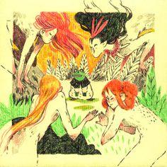 Bueno, i allà va una altra de les il·lustracions petites per a la expo. Núria Tamarit.