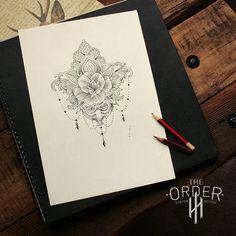 Mandala Rose Filigree Sketch Design The Order