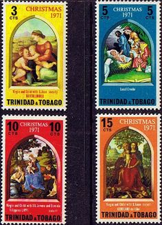 Trinidad and Tobago 1971 Christmas Mint SG 399/402 Scott 203/6 Other Trinidad Stamps HERE