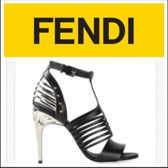 FENDI caged heels new in box with dustbag sz. 7.5 Brand new in box with dust bag. Runway heels it has a little break on the cage that would be easily fixed. Other then that shoes are brand new and never been used. FENDI Shoes Heels