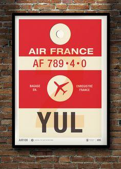 Image of Flight Tag Prints - Montreal