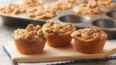 We're calling it; this is the best thing to ever happen to classic apple crisp! Press Pillsbury™ biscuits into muffin cups, add apple pie filling and sprinkle with a cinnamon-streusel topping for your new favorite fall dessert.