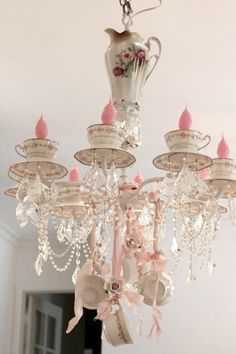 """Charming """"COSY COTTAGE"""" Chandelier - just right with some shabbily painted furniture!"""