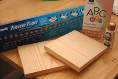 Freezer Paper stencil for wood