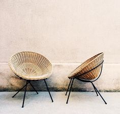 love these wicker bucket chairs @dcbarroso