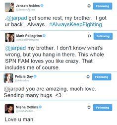 #AlwaysKeepFighting We all love you Jared!!!