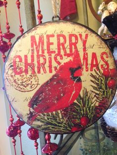 This large disc ornament is great for hanging on large trees or in the window!