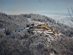 Wandern am Ossiacher See in Kärnten mit Blick auf die Burg Landskron Mount Everest, Mountains, Nature, Travel, Castles, Woodland Forest, Viajes, Naturaleza, Chateaus
