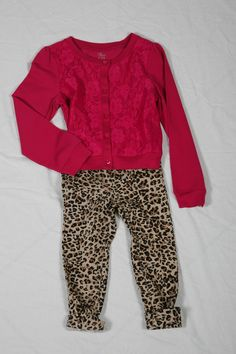 Leopard Jeggings & Pink Floral Cardigan both available @ Children's Place for $24.95 Floral Cardigan, Children's Place, Jeggings, Mall, Centre, Pink, Pink Hair