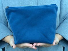 Fat Bottom Bag, blue velvet - Simple bag, lined purse, clutch, pouch by yaysayerbags on Etsy https://www.etsy.com/listing/249060197/fat-bottom-bag-blue-velvet-simple-bag