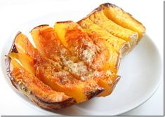 Acorn squash with olive oil and honey