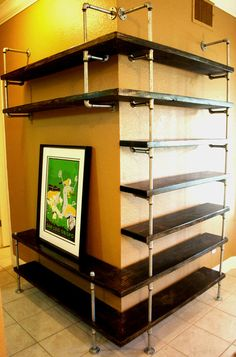Industrial Pipe Shelving Entertainment Unit by IndustrialEnvy