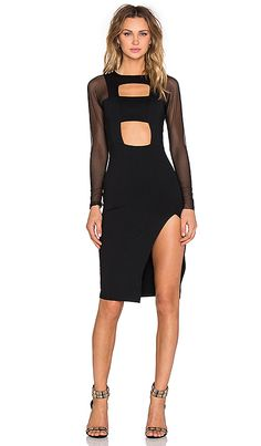 Shop for Donna Mizani Banded Cut Out Midi Dress in Black at REVOLVE. Free 2-3 day shipping and returns, 30 day price match guarantee.