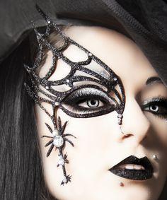 Halloween Makeup: Spider Web Mask tutorial | Halloween | Pinterest ...