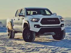 The 2017 Toyota Tacoma TRD Pro looks like the company's best version of its popular mid-size truck. And best of all, it comes with a manual. Toyota Tacoma Trd Pro, Toyota Tundra, Toyota Corolla, Toyota Celica, Toyota Trucks, Toyota Cars, New Pickup Trucks, Toyota For Sale, Toyota Dealership