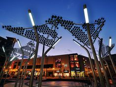 New Columbia Heights: More on the solar panel/tree things at the Civic Plaza