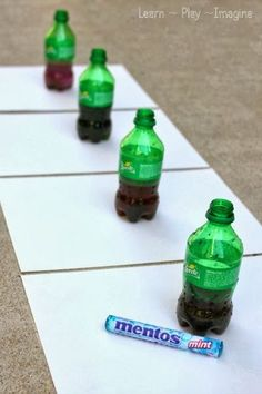 Erupting Art for Kids ~ What an amazing and fun project. I wonder how putting a hole in the bottle would effect the art.