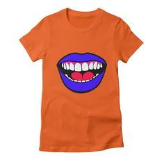 big-mouth womens t-shirt in orange_poppy