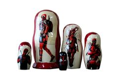 Matryoshka Deadpool. 5 Piece Nesting Doll от bessershop на Etsy