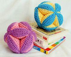 Crochet Pattern - Baby frizione palla giocattolo (fa un regalo grande bambino) - Instant Download PDF