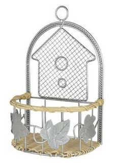 Platinum Metal and Wicker House Basket