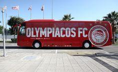 Ανανεωμένο το Θρυλικό λεωφορείο... ετοιμάζεται για νέα Θρυλικά ταξίδια...! #Red_White #Olympiacos Sports Clubs, Coaching, Football, Buses, Group, Soccer, Training, Futbol, Busses