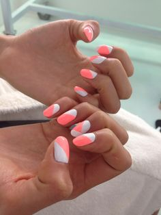 Try the half and half design for your next nails.