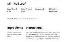 Rhodes Dinner Rolls, Rhodes Rolls, Rhodes Bread, Mini Rolls, Dinner Places, Baking, Bakken, Backen, Sweets