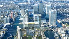 3,000 new homes: Wood Wharf, picked out in lig