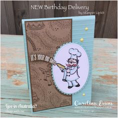 Today I sharing a super cute card made with the new Birthday Delivery Stamp set. This set comes in a special bundle - it includes the match...