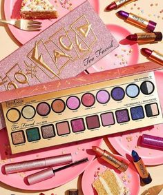 Too Faced is just goals! Their makeup and cosmetics collections give us so much inspiration to create new amazing makeup looks for the summer and fall! These shades and glitters make us want to find a tutorial and dig in! Too Faced Cosmetics, Makeup Cosmetics, Makeup Palette, Eyeshadow Palette, Maquillaje Too Faced, Makeup Utensils, Beauty Makeup, Eye Makeup, Magical Makeup