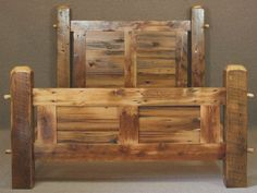 Wood bed frame parts ideas Kids Bed Frames, Wooden Bed Frames, Queen Bed Frame Dimensions, Barn Wood, Rustic Wood, Rustic Decor, Bed Frame Parts, Bed Frame Design, Woodworking Bed