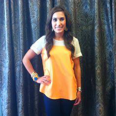 Light orange top!