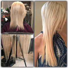 Seamless Tape-Ins by Mylinda Renay Hoard transformed this clients thin fine hair into a gorgeous longer head of hair