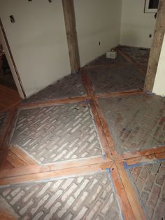 1900 farmhouse: kitchen floorbricks and wood great design