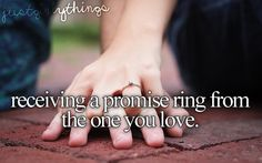 receiving a promise ring from the one you love