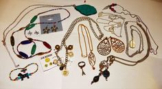 vintage antique collection lot jewelry * CHEAP SHIPPING * #mixed