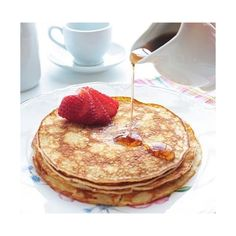 Creme Cheese Pancakes 2oz creme cheese 2 eggs 1 pkt stevia 1/2 tsp cinnamon  Put all together in blender or magic bullet and blend. Let stand about 2 mins until the bubbles mostly go away. Pour batter onto hot pan with butter or pam. Cook two mins until golden and then flip and cook another min.   Serve with sugar free syrup and berries.