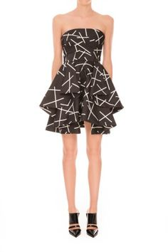 | C/meo Collective | Shake It Up Dress | Geo Black | $239.95 | BNKR | Shop C/meo Collective