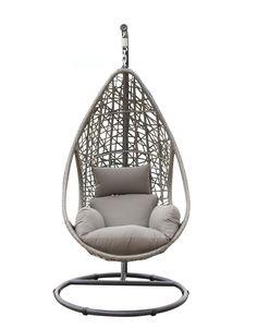 rattan h ngesessel aus wetterfestem polyrattan in farbe. Black Bedroom Furniture Sets. Home Design Ideas