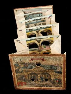 Victorian Tunnel Books provide layers of intriguing, detailed illustrations that combine into three-dimensional images. You won't find these on your e-reader! Up Book, Book Art, Antique Books, Vintage Books, Paper Book, Paper Art, Altered Books, Altered Art, Pop Up