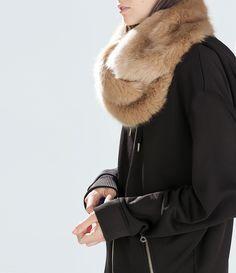 Image 2 of FUR WRAPAROUND STOLE from Zara $59.90