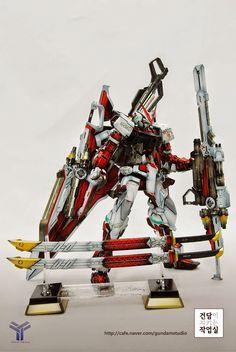 Custom Build: MG Gundam Astray Red Frame Kai + Caletvwlch Sword Custom Paint Jobs, Custom Decals, Astray Red Frame, Battle Bots, Mecha Suit, Gundam Astray, Gundam Art, Custom Gundam, Fantasy Weapons