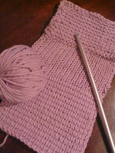 Tunisian Crochet Beginner Swatch (Very easy. Been doing this for years)