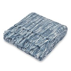 Carter Knit Blue Throw; $39.99
