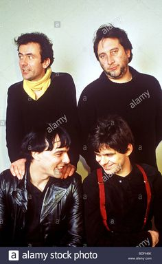 STRANGLERS  - UK rock group about 1980 with Hugh Cornwall top left Stock Photo
