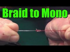 HOW TO Tie BRAIDED Fishing Line to MONOFILAMENT or Fluorocarbon Leader- Easy and Strong Fishing Knot