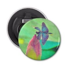 Iridescent Blue Dragonfly on Waterlily Bottle Opener  Iridescent Blue Dragonfly on Waterlily Bottle Opener  			  		 			 $3.85  			 by  Tannaidhe  http://www.zazzle.com/iridescent_blue_dragonfly_on_waterlily_bottle_opener-256239746587652054    - - - Come see all my other items at Zazzle!  http://www.zazzle.com/tannaidhe?rf=238565296412952401&tc=MPPin