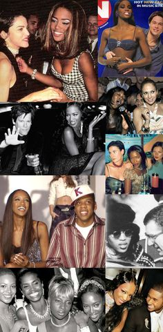 Naomi Campbell hanging out with every relevant celeb of the '90s. | 51 Reasons Why Supermodels Were Better In The '90s